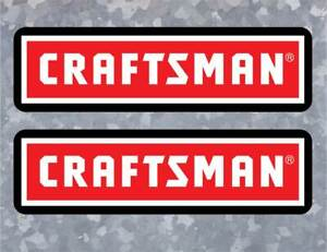 2x Replacement Craftsman Toolbox Logo Decals American Made Free Ship