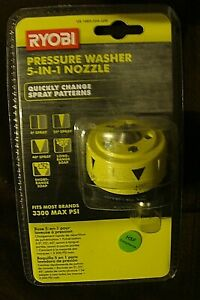 Ryobi Gas Electric Pressure Washer 5 In 1 Spray Nozzle 3300 Max Psi