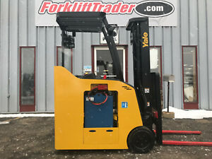 Yale Esc040acn36te088 3000 Lb Cushion Tire Stand Up Forklift