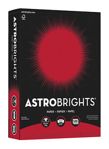 Astrobrights Premium Color Paper 8 1 2 X 11 Inches Re entry Red 500 Sheets