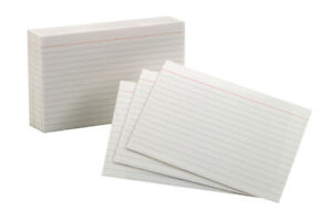 Oxford Ruled Index Card 4 X 6 Inches White Pack Of 100