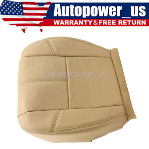 Driver Bottom Leather Seat Cover Fits 2007 2014 Chevy Silverado Tan Cashmere New
