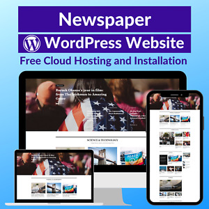 Newspaper Blog Business Affiliate Website Store Free Hosting installation