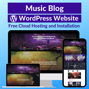 Music Blog Business Affiliate Website Store Free Hosting installation