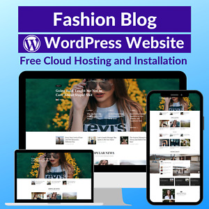 Fashion Blog Business Affiliate Website Store Free Hosting installation
