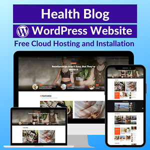 Health Blog Business Affiliate Website Store Free Hosting installation