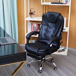 Executive Computer Office Chair Swivel Massage Recliner Gaming Chairs Desk Seat