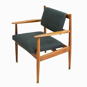 Mid Century Modern Jens Risom Lounge Chairs A Pair