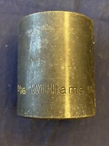 Williams 4 638 1 3 16 1 2 Drive Shallow Impact Socket 6 Point