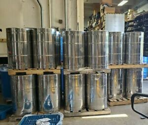 Used 55 Gallon Stainless Steel Drum Barrel Thick 1 5mm Sanitary Bottom