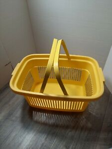 Plastic Grocery Store Market Yellow Shopping Basket