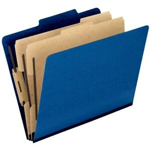 Pendaflex Pressguard Color Classification File Folder Legal Size Blue 10 pack