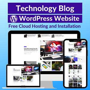 Technology Blog Business Affiliate Website Store Free Hosting installation