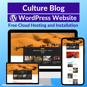 Culture Blog Business Affiliate Website Store Free Hosting installation