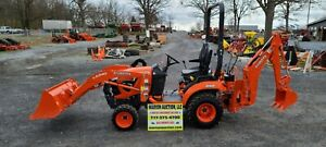 2020 Kubota Bx23s Compact Loader Tractor W backhoe Only 22 Hours Warranty