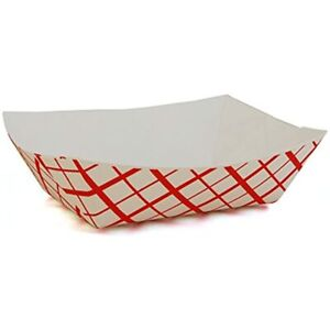 Snl 1lb Paper Food Trays Durable Made In Usa Holds Nachos Fries Hot Corn