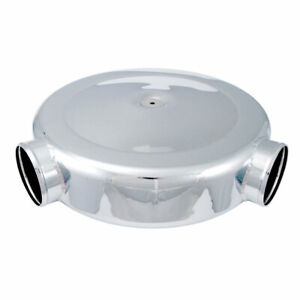 Spectre 98699 Low Profile Polished Airbox Air Cleaner 16 Diam Dual 4 Inlets