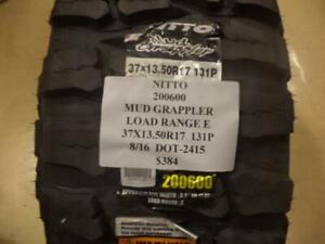 1 New Nitto Mud Grappler Lre 37 13 5 17 131p Tire 200600 Q9