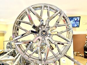 4 Stacked Chrome Plated 20 X 8 5 Fit Most Cadillac