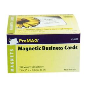 Promag Magnetic Business Cards 2 X 3 1 2 Pack Of 100