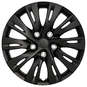 Set Of Four 16 Black Wheel Covers For 2012 14 Toyota Camry