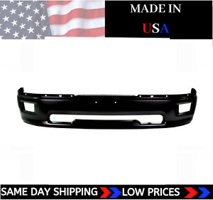 New Usa Made Matte Black Front Bumper For 2009 2012 Ram 1500 Ships Today