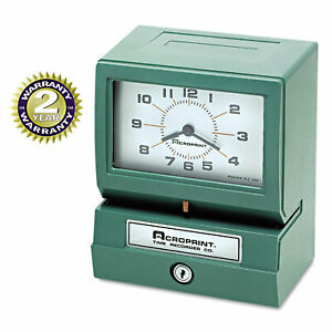 Acroprint Model 150 Analog Automatic Print Time Clock With Month date 1 12 Hours