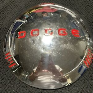 Rare 1940 Dodge 9 Od Oem Wheel Center Rim Hub Cap Lug Cover Dog Dish Red K