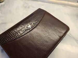Brighton Mock Croc Leather Zip Around Agenda Planner Organizer New