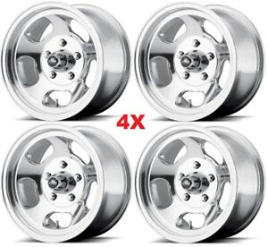 15 Ansen Sprint Wheels Rims Polished C 10 C10 5x5 5x127 Polished Aluminum