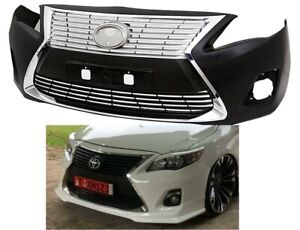 2011 2013 Toyota Corolla Front Bumper Lexus Es300 Style And Chrome Grills