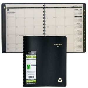 2022 At a glance 70 260g 05 Monthly Planner 8 7 8 X 11 Black Cover