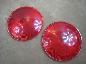 Vintage Dietz No 4066 7 Large Plastic Dome Red Stop Light Lens Covers Syracuse