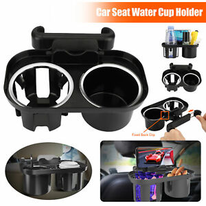 Multifunction Car Back Seat Cup Holder Water Bottle Drink Coffee Double Tray