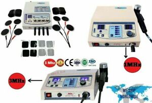 Combo 1 Mhz And 3 Mhz Ultrasound Therapy Machine And 4 Channel Electrotherapy Y