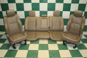 10 16 Ram Heated cooled Crew Tan Leather Buckets Backseat Bench Seat Set Oem