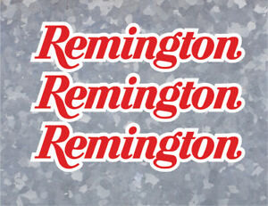 2x Remington Decal Sticker Usa Window Car Firearm Gun Rifle Ammo Hunting