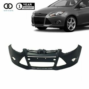 Front Bumper Cover For 2012 2013 2014 Ford Focus Sedan W Tow Hole Primered