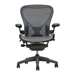 Herman Miller Aeron Office Chair Graphite Size B Posture Fit
