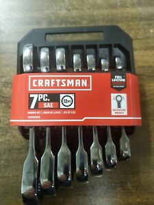 New Craftsman 7 Pc Stubby Ratcheting Wrench Set Polished Cmmt87026