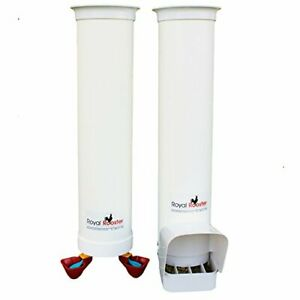 Heavy Duty Wall Mount Twin Cup Drinker And Feeder Set 6 5 Lbs 1 Gal White