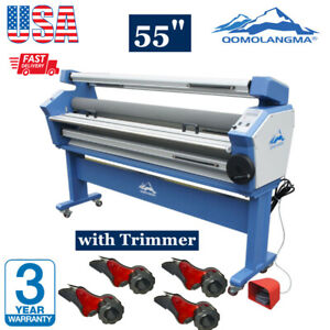 55 Full auto Wide Format Roll Cold Laminator With Trimmer Cutter Heat Assisted