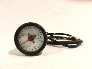 Hks 46mm White Turbo Boost Vacuum Gauge Vintage Jdm