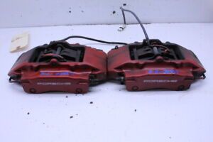 1999 2012 Porsche 911 996 997 Rear Brake Calipers Brembo Set Pair Red Stock 2055