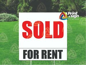 3 For Rent Riders 6 X 24 Real Estate Sign 2 Sided Outdoor Coroplast Free Ship
