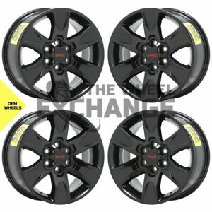17 Gmc Canyon Chevrolet Colorado Truck Black Wheels Rims Factory Oem Set 4 5693