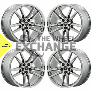 20x11 Ford Mustang Gt500 Pvd Chrome Wheels Rims Factory Oem 2020 2021 Set 4