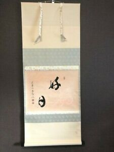 Rare Peper Japanese Zen Hanging Scroll Kanji Katsudoh Calligraphy Tea Ceremony
