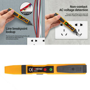 12 1000v Ac Voltage Tester Pen Electric Ac Volt Power Detector Sensor Abs