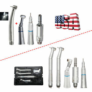 Nsk Style Dental led High Fast Turbine low Speed Handpiece Kit 4 2 Hole Set